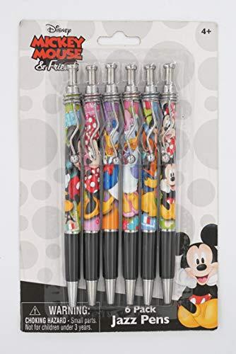 Mickey & Friends Jazz Pens - Set of 6