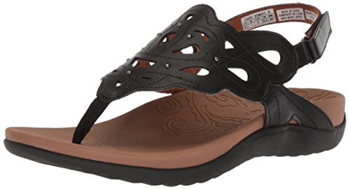Rockport Women's Ridge Sling Sandal, Black, 8 W US (Best Sandals For Overpronation And Flat Feet)