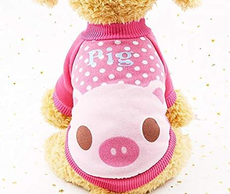 Ropa para Perros Traje Rosa Pijamas para Perros Mascotas ...
