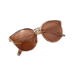 Best Annie the sea blue new sunglasses Han edition women sunglasses fashion big glasses Retro Vintage Sunglasses Champagne tea