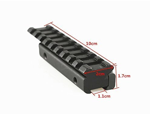 FIRECLUB Aluminum Riser Dovetail Convert To Weaver Picatinny Base Mount 3/8 Adapter Extension 11mm to 20mm Tactical Scope - Scope Base Dovetail