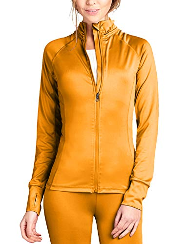 J. LOVNY Women Comfy Solid Long Sleeve Full Zip-up Track Jacket