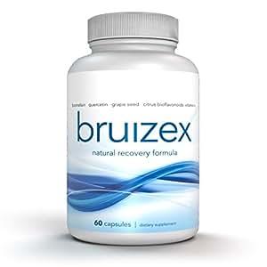BRUIZEX – Effective Relief for Skin Bruises. Bromelain 2400 GDU & Quercetin 500MG Complex Supplement; Natural Extra Strength Anti-Inflammatory Formula,Non-GMO, 60 Veggie Caps
