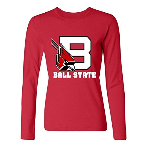 Tommery Women's Ball State University Long Sleeve Cotton T Shirt