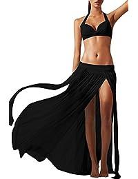 Bess Bridal Womens Sexy Mesh Maxi Bohemian Skirt Cool Swimwear Beach Cover Ups
