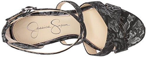 Jessica Simpson Donna Roxelle Sandalo Con Tacco In Peltro Multi