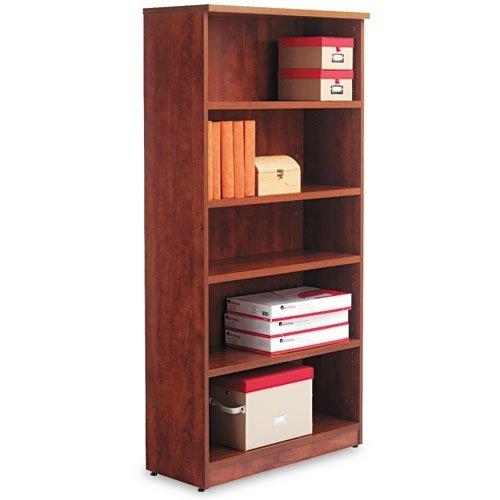 Alera Valencia Series Bookcase/Storage Cabinet, 5 Shelves, 32 W by 14 1/2 D by 66 H, Medium Cherry ()