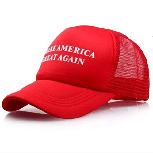 Make America Great Again Donald Trump New Hat Red White mesh Skip snap Back USA Beisbol MAGA