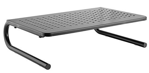 Vented Monitor Stand for Computer, Laptop, Desktop, iMac or Printer - Metal Monitor Riser with 14.5 x 9.5 Inch Platform and 4 Inch Riser Height - Monitor Stand Organizer for Home or Office Use