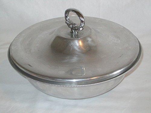 - Vintage Buenilum Glasbake Glass & Aluminum Covered Divided Casserole Dish