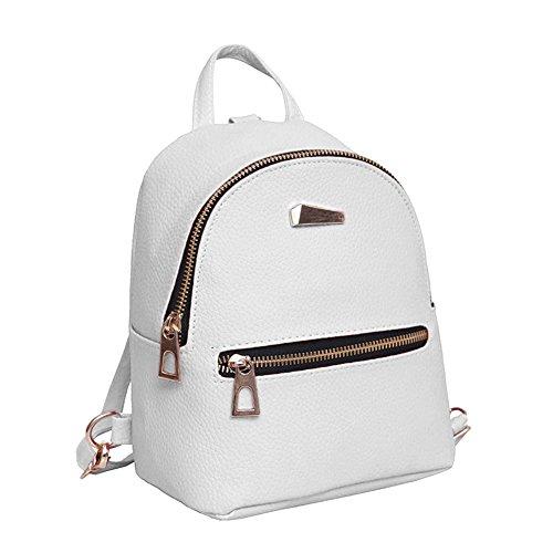 cuoio Espeedy viaggio 18 da cm zaino ragazze donna 19 da bandoliera borsa scuola 10 scuola donna mini casual bianco moda pu signore x00qfarwA