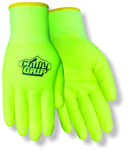 Red Steer Chilly Grip Water Resistant A319-XL Hi-Vis Yellow Heavyweight Thermal Lined Full-Fingered Work and General Purpose Gloves [PRICE is per PAIR] (Extra - Grip Chilly