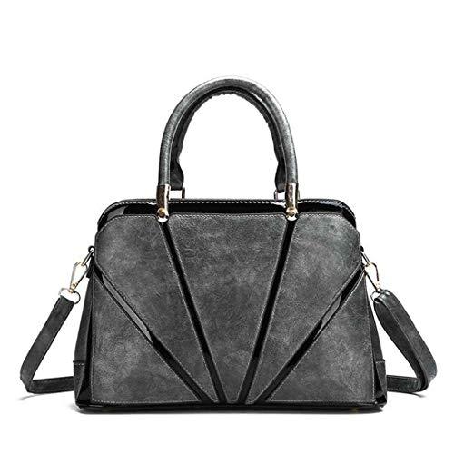 S Borse Da Tracolla Gray Qualità Vintage Pelle Di Black A Alta Donna Moda In fr5xqTfnIz