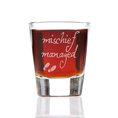 Mischief Managed: Harry Potter Marauder's Map Inspired Shot Glass