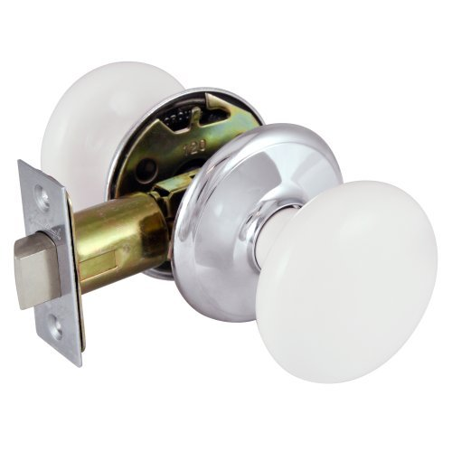Superbe Gainsborough GENUINE PORCELAIN Door Knob Set (LOCKING Bed U0026 Bath, WHITE  Porcelain U0026 CHROME)   Doorknobs   Amazon.com