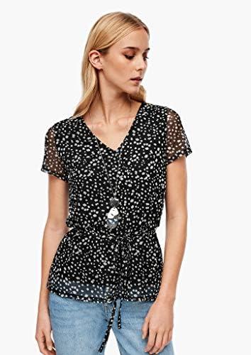 s.Oliver RED Label damska koszulka z siateczki z tasiemką: s.Oliver: Odzież