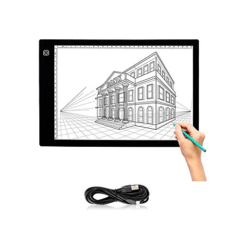 Tracing Light Box - Yuelong Ultra-thin Portable A4 LED Light Pad,Tattoo Light Table Tracer USB Cable with Brightness Adjustable, Used for Artists,Drawing, Animation,X-ray Viewing,Tattoo Transferring by Yuelong