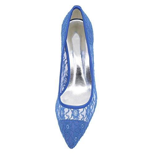 Dedo La yc Pie Satinado De Del Seda Prom Fiesta Tacones Verano Boda Otoño L Noche Blue Primavera Punta Y Mujer pqwnC0