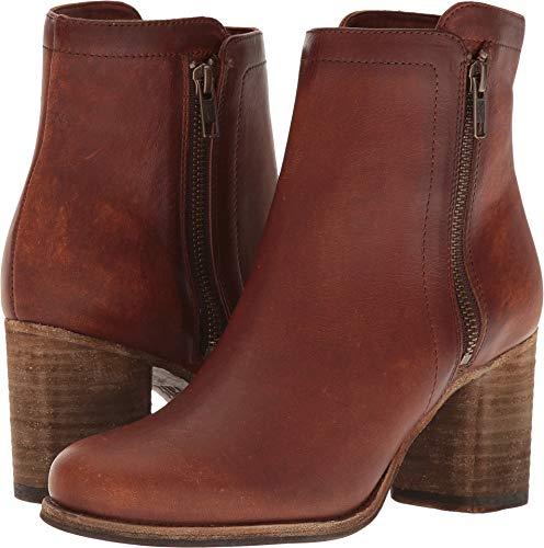 - FRYE Women's Addie Cognac Double Zip Boot Round Toe Cognac 11 M