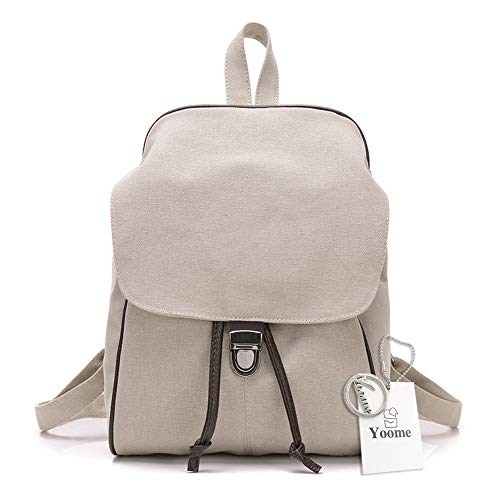 Yoome Mochila de Lona, Duradera, Elegante, Simple Lona Satchel Daily Essentials Beige Cream White One_Size: Amazon.es: Productos para mascotas