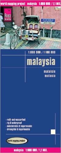 Malaysia & Brunei 1:800,000 / 1,100,000 Travel Map, waterproof, GPS-compatible REISE
