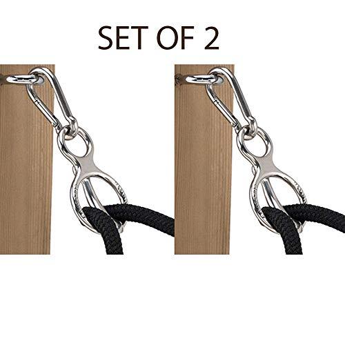 Blocker [ Set of 2 Tie Ring || Horse Tie Ring Stainless Steel (Tie Blocker Ring)
