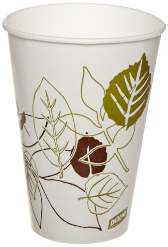 Dixie 12PPATH Pathways Poly Paper Cold Cup, 12 oz Capacity (24 Sleeves of 100)