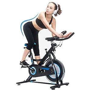 Allenamento Spin Bike Professionale Cyclette Aerobico Home Trainer, Monitor Lcd, Rilevazione Della Frequenza Cardiaca, Volano Elettrolitico Solido, Regolazione Della Resistenza Infinita
