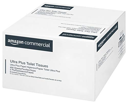 AmazonBusiness Ultra Plus Toilet Paper, 400 Sheets consistent with Roll, 80 Rolls