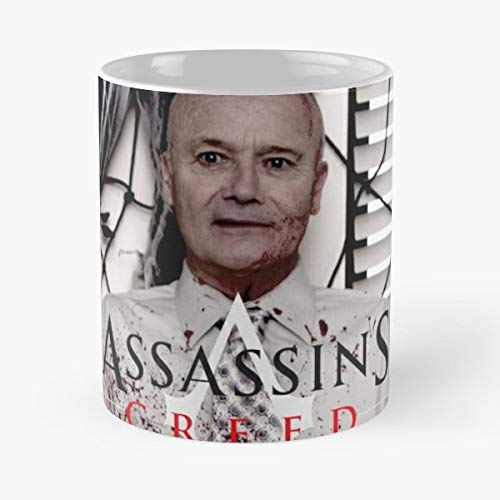The Office Creed Bratton Halloween Assassins - 11 Oz Coffee Mugs Unique Ceramic Novelty Cup, The Best Gift For Holidays. ()