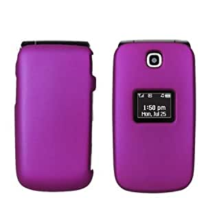 Viesrod Hard Plastic Snap on Cover Fits LG UN150 Envoy Solid Purple (Rubberized) US Cellular