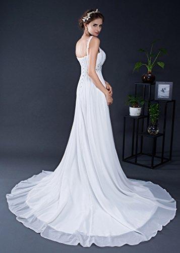 Mujer 46 Blanco Trapecio Vimans Para Vestido xX1UYtqwnS