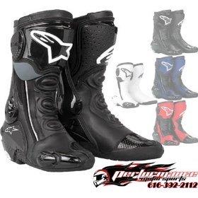 Alpinestars S-MX Plus Racing Boots, Black, Size: 38 20512-N-38