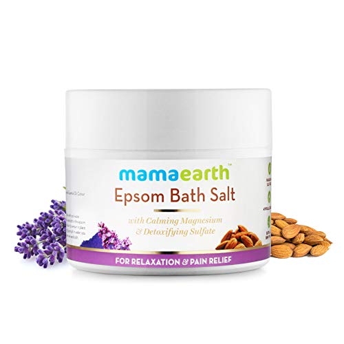 Mamaearth Epsom Bath Salts for Relaxation & Pain Relief, Made in the Himalayas- Hypoallergenic, Toxin-free, All Natural with Organic Ingredients (Plants That Don T Like Epsom Salt)