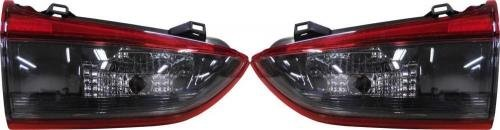 Go-Parts PAIR/SET OE Replacement for 2014-2015 Mazda 6 Rear Tail Lights Lamps Assemblies/Lens / Cover - Left & Right (Driver & Passenger) Side Inner for Mazda 6