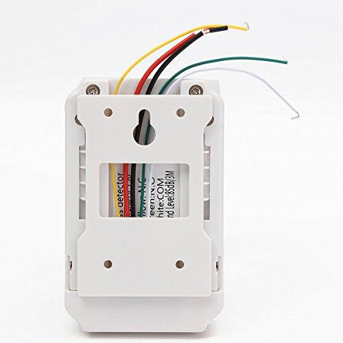 Gas Leak Detector High Sensitivity White 12V Combustible Gas Leak LPG Natural Gas Detector Propane Alarm by Liushuliang (Image #2)