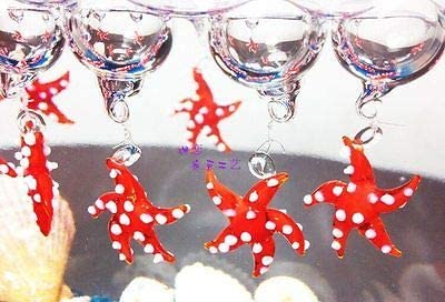 FidgetFidget OrnamentStarfish Aquarium Floating Blown Glass Bubble Aquarium Micro Landscape