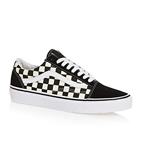 Vans Unisex Old Skool (Primary Check) Black/White VN0A38G1P0S Mens 8, Womens - School Shoes Vans Old