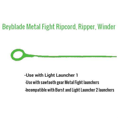 7 Beyblade ripcords, Sawtooth style, 10 1/2