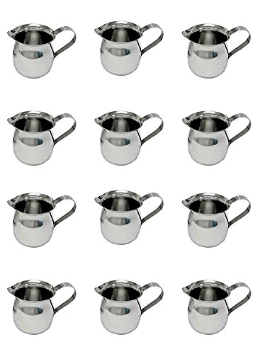 Update International BC-3 Stainless Steel Bell Creamer, 3-Ounce, 2-1/4-Inch, Set of 12 by Update International