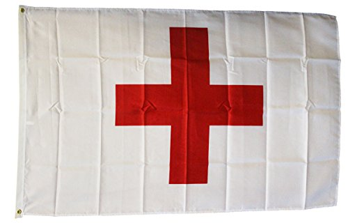 Red Cross - 3' x 5' Dura-Poly Polyester Novelty Flag by Flag