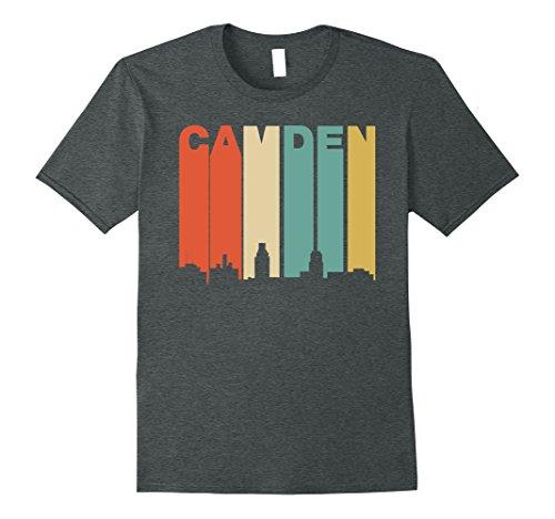 1970 Retro Jersey (Mens Retro 1970's Style Camden New Jersey Skyline T-Shirt XL Dark Heather)