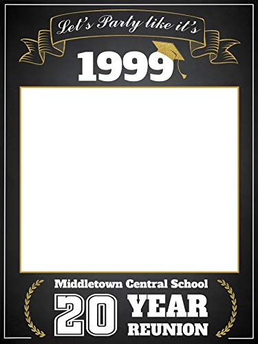 Class Reunion Photo Booth prop, Custom Graduation Reunion, Size 24x36, 48x36; Personalized College University Reunion Photo Frame, Class of 2019, Selfie frame Handmade Party Supply, Reunion -
