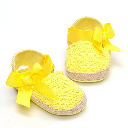 Bebé Niña Zapatos de verano infantil Sandalias tamaños de US, - caqui, 7-12 Months amarillo