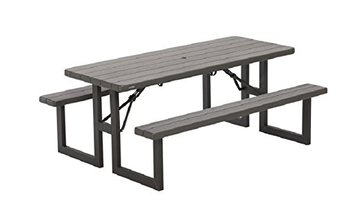 LTP Commercial Quality Outdoor Craftsman W-Frame 6′ Folding Picnic Table ~ Brown