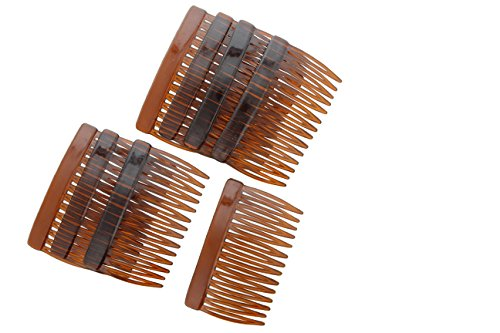 (Tortoise Multi-Purpose Hair Combs - Set of Eight (8))