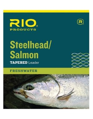 RIO Fly Fishing Salmon/Steelhead 9' 20Lb Leaders (Pack 3), Glacial Green