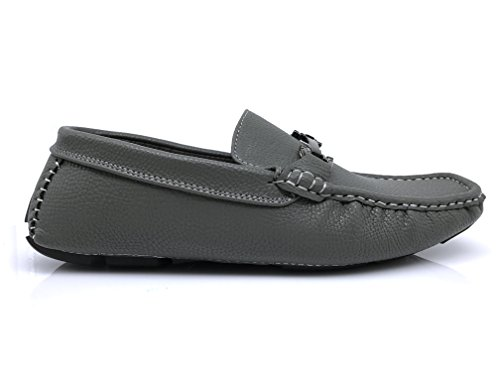 Enzo Romeo Payne New Mens Fashion Light Weight Horse Bit Driving Moccasins Slip On Loafer Shoes Gray qNAlP