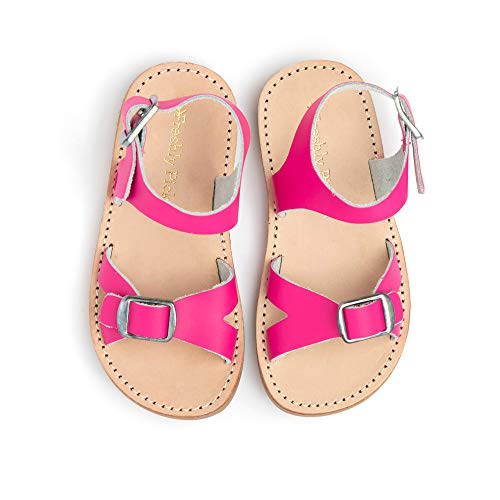Freshly Picked - Carmel Baby Girl Leather Sandals - Size 3 Fuchsia Pink