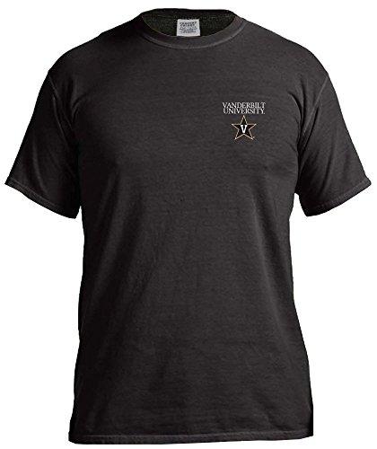 NCAA Vanderbilt Commodores Simple Circle Comfort Color Short Sleeve T-Shirt, Black,Large